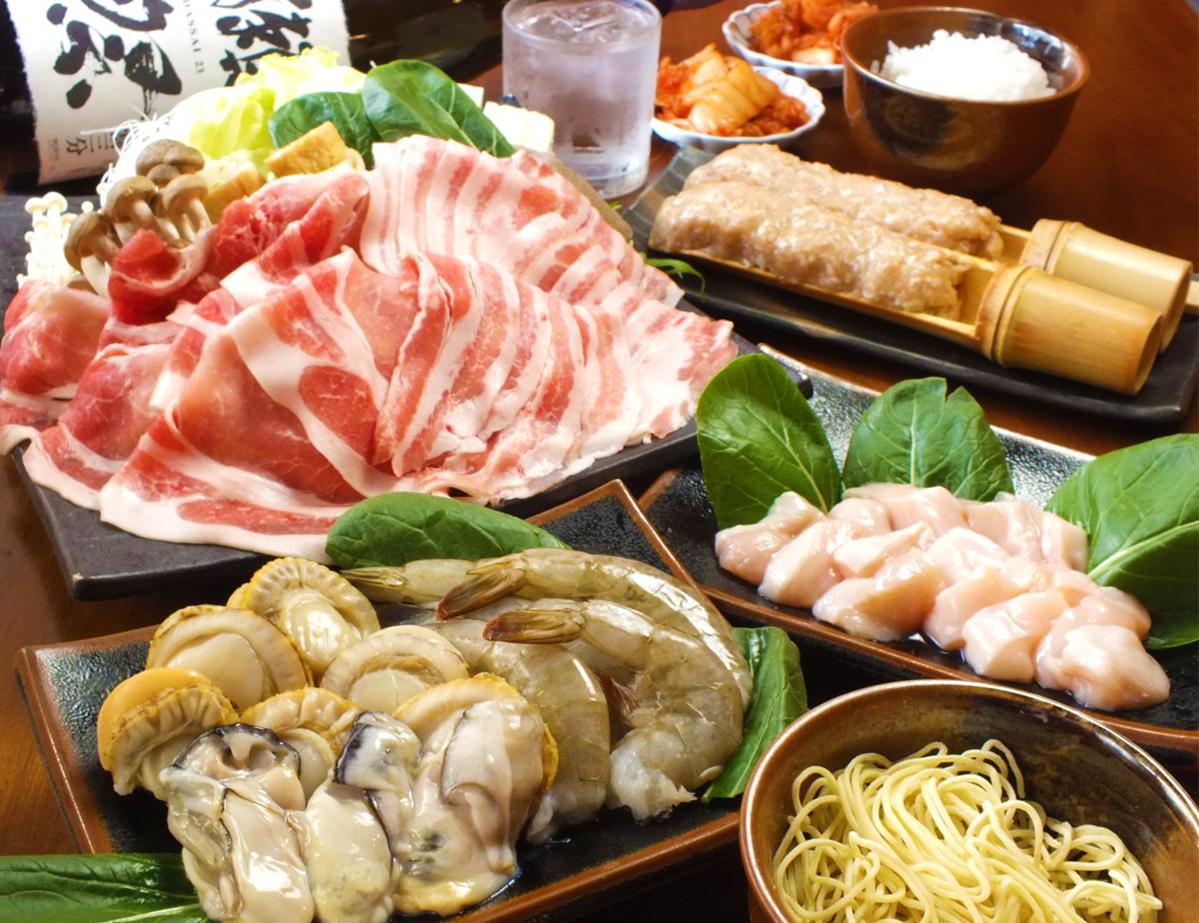 附海鮮(蝦、牡蠣、扇貝)阿波豬肉、阿波尾雞3小時吃到飽方案