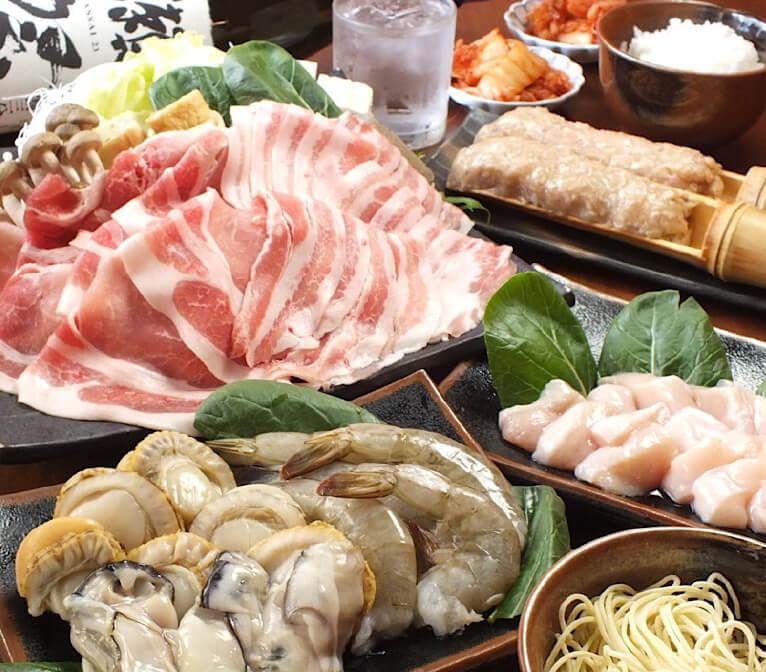海鮮+阿波ポーク3時間食べ放題・2時間飲み放題コース