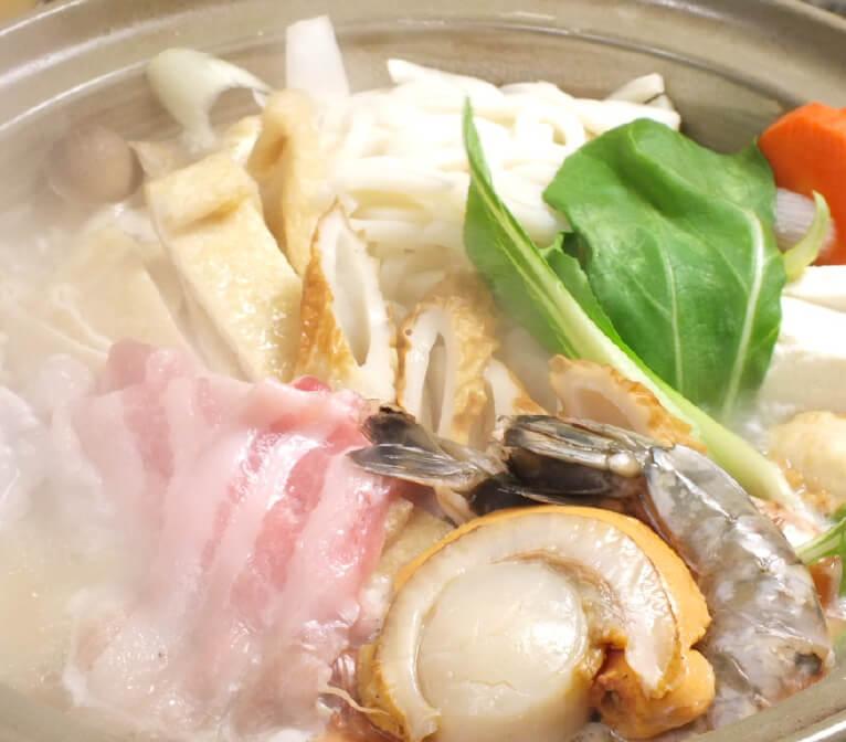 当店自慢のブランド肉、阿波ポークで味わう、ちゃんこ鍋コース
