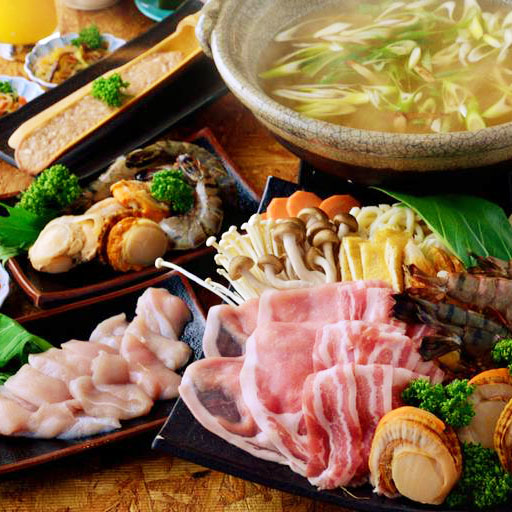 Select Quality Brand Pork Slices・Awaodori Chicken All-You-Can-Eat & Drink Seafood-Inclusive (Shrimps, Oysters, Scallops) Course (2 Hours)